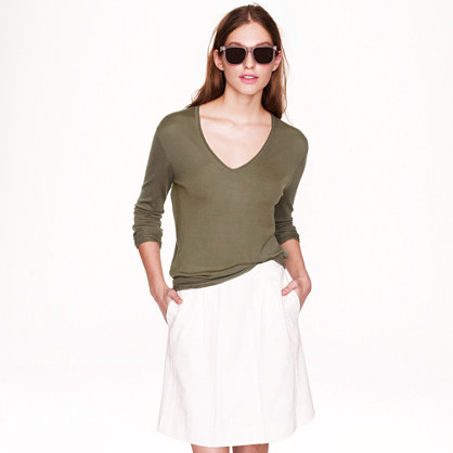 Lightweight merino wool V-neck sweater