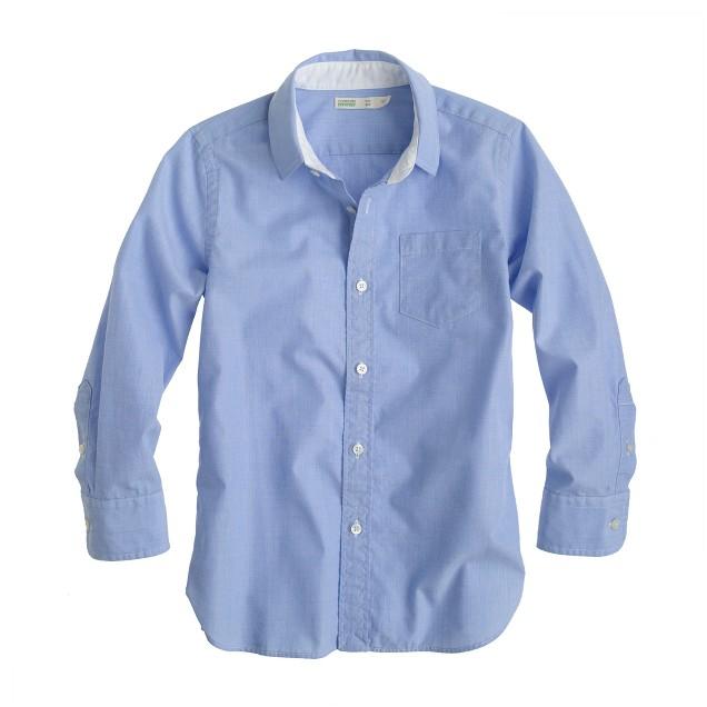 Boys' Secret Wash end-on-end shirt