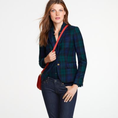 Schoolboy blazer in Blackwatch tartan