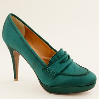 Biella satin high-heel loafers