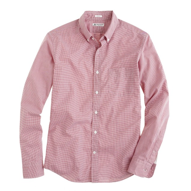 Thomas Mason® for J.Crew slim shirt in green microgingham