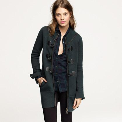 Toggle cardigan coat