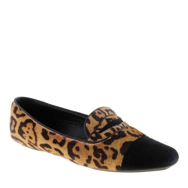 Darby calf hair penny loafers