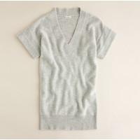 Cashmere short-sleeve V-neck sweater
