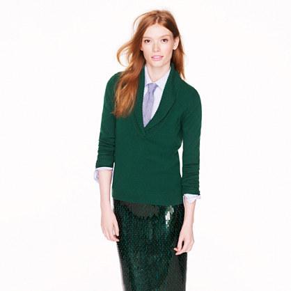 Shawl Collar Sweater Under Blazer Shawl-collar Sweater