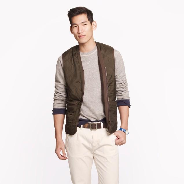 Barbour® polarquilt waistcoat/zip-in liner