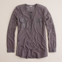 Vintage cotton patch-pocket henley
