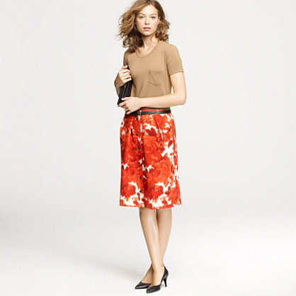 Flair skirt in floating rose