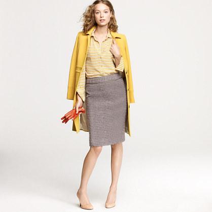 No. 2 pencil skirt in metallic bouclé
