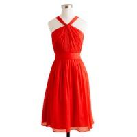 Petite Sinclair dress in silk chiffon