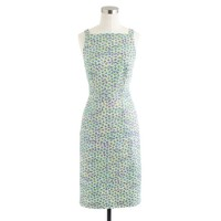 Collection apron dress in acid daisy tweed