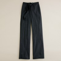 Hutton tie trouser in wool crepe