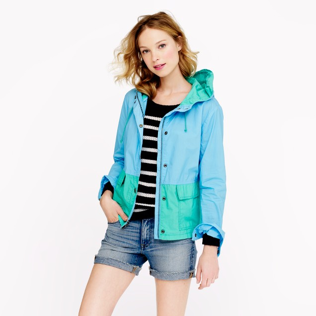 Colorblock poplin sail jacket