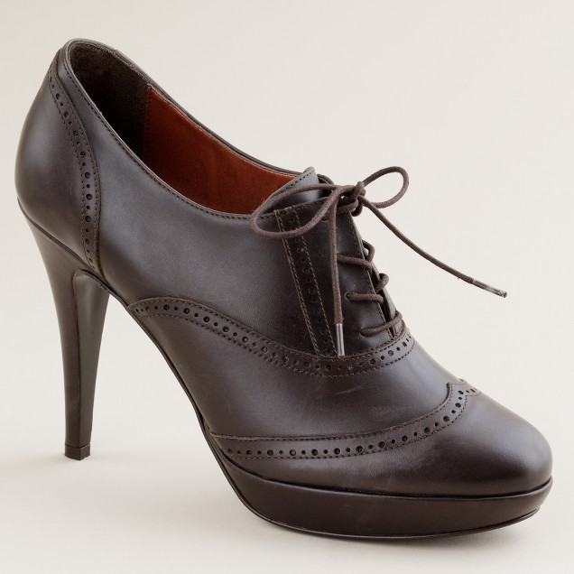 Pierce high-heel oxfords