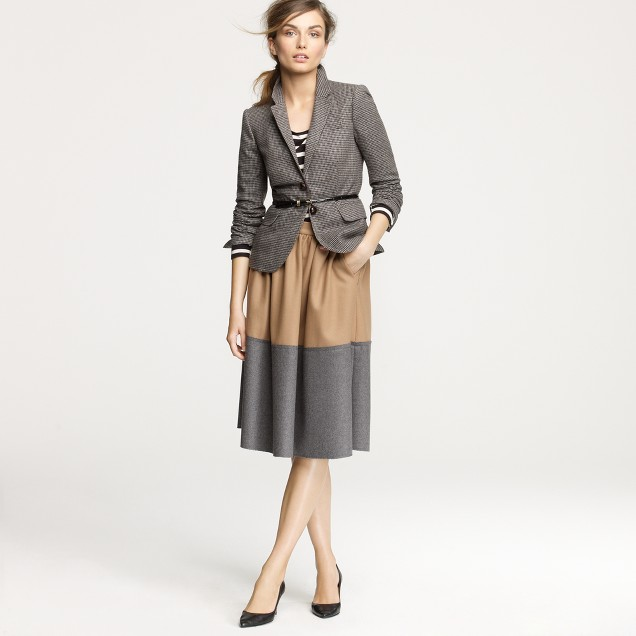 Two-tone circle skirt