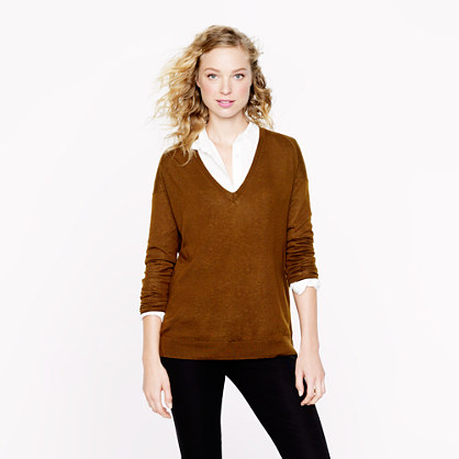 Collection featherweight cashmere drop-shoulder boyfriend sweater