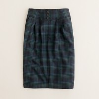 No. 2 pencil skirt in blackwatch plaid