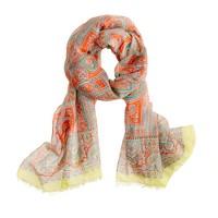 Drake's® printed square paisley scarf