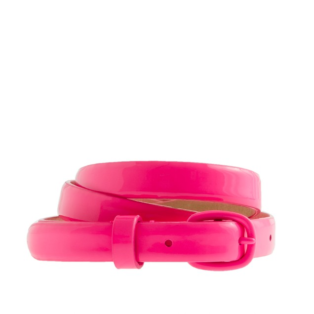 Girls' patent leather belt