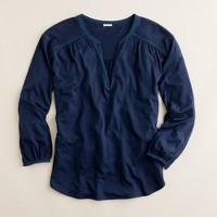 Finespun blouse tee