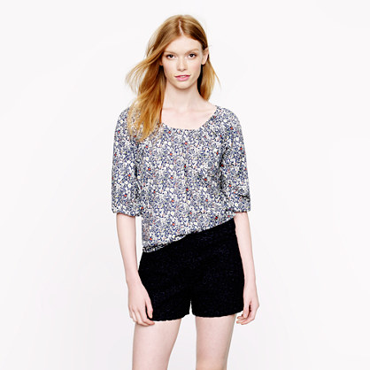 Liberty peasant top in June's Meadow floral