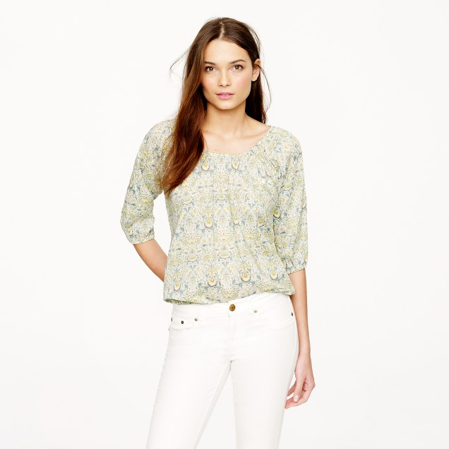Liberty peasant top in Lodden paisley