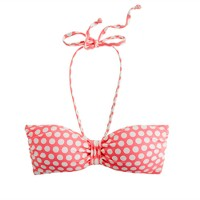 Graphic dot padded bandeau top