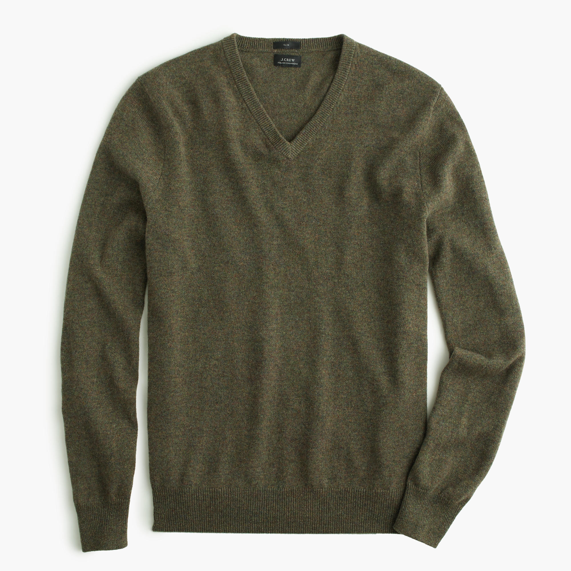 J.CREW SLIM ITALIAN CASHMERE V-NECK SWEATER $225