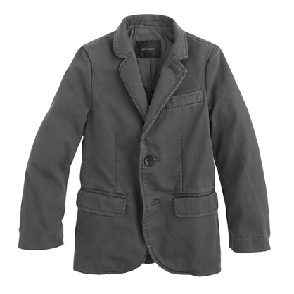 Boys' unconstructed Ludlow suit jacket in sun-faded chino