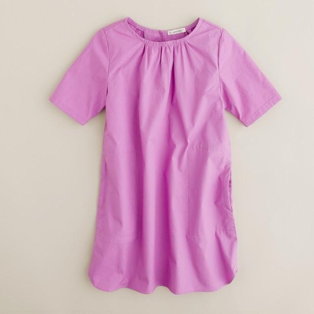 Girls' trapeze dress