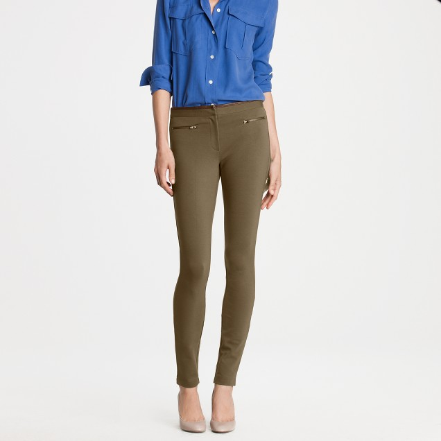 Leather-trim Pixie pant