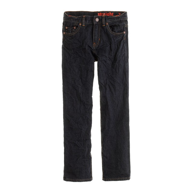 Boys' straight jean in wrinkle rinse wash
