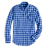 Secret Wash shirt in two-tone gingham