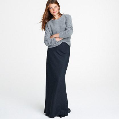 Wool maxiskirt