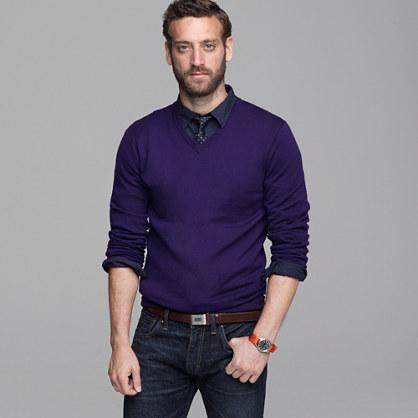 Slim merino V-neck sweater