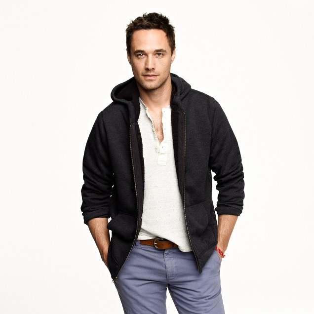 Utility fleece sherpa-lined hoodie