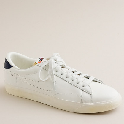 nike 174 for j crew vintage collection leather tennis classic