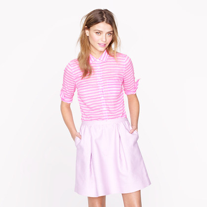 Stripe cotton-silk popover