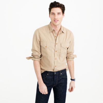Wallace & Barnes Makin Island garment-dyed chino shirt