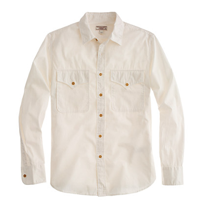 Wallace & Barnes Makin Island garment-dyed chino shirt