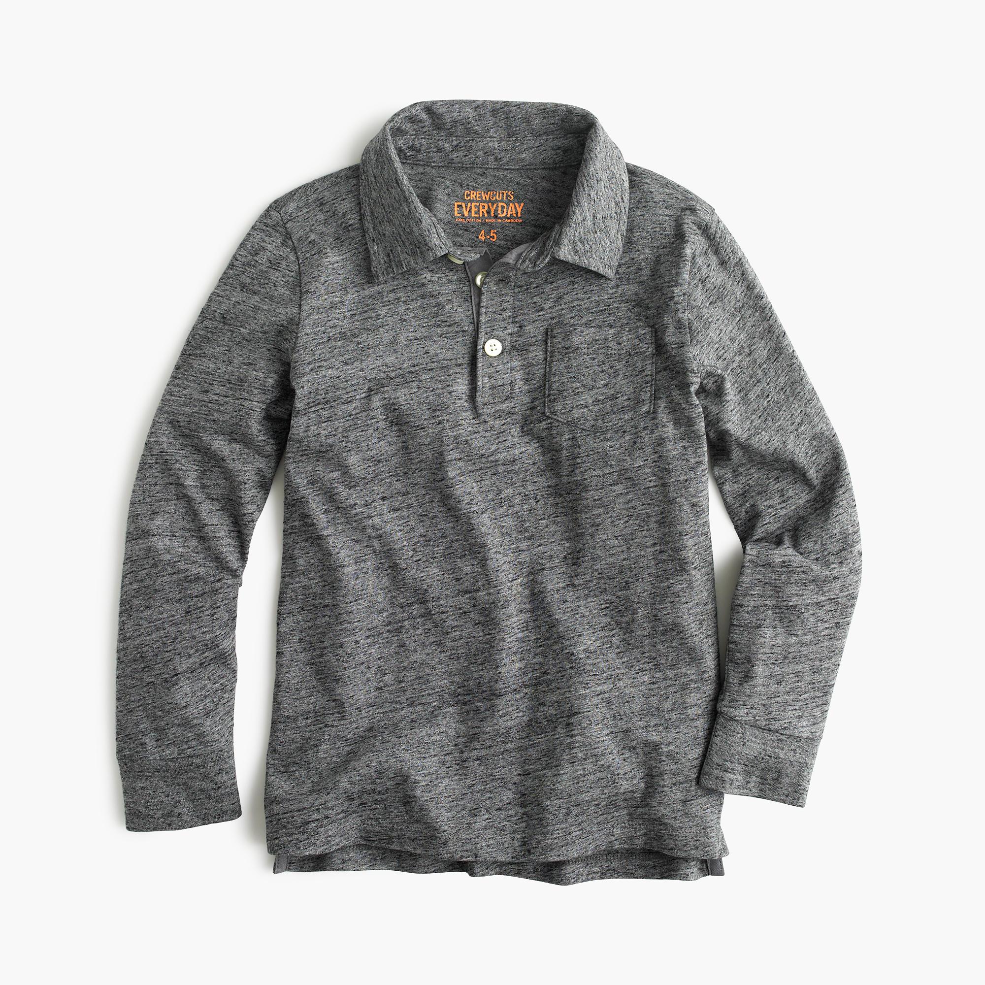 Boys' Long-Sleeve Jersey Polo Shirt : Boys' Polo Shirts ...
