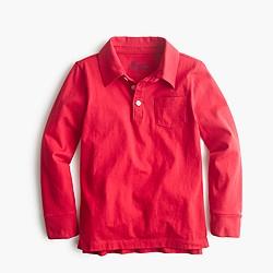 Boys' long-sleeve jersey polo shirt