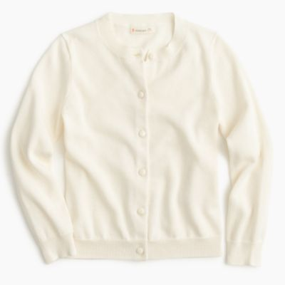 Girls' classic Caroline cardigan sweater