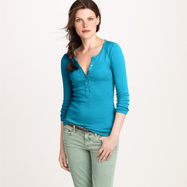 Perfect-fit ribbon henley