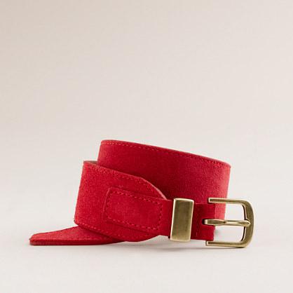 Suede dressage belt