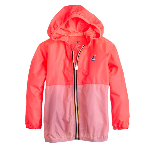 Girls' K-Way® for crewcuts Claude Klassic jacket in colorblock