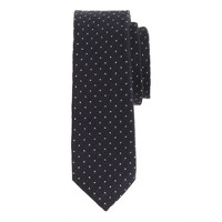 English wool tie in pindot