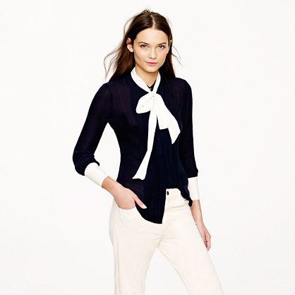 Collection secretary blouse in colorblock
