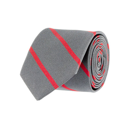 Shadow-stripe silk tie