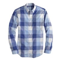 Slim lightweight shirt in regal blue gingham